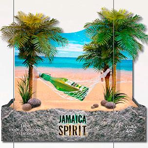 Разработка дизайн-макетов для продвижения водки «Jamaica Spirit»