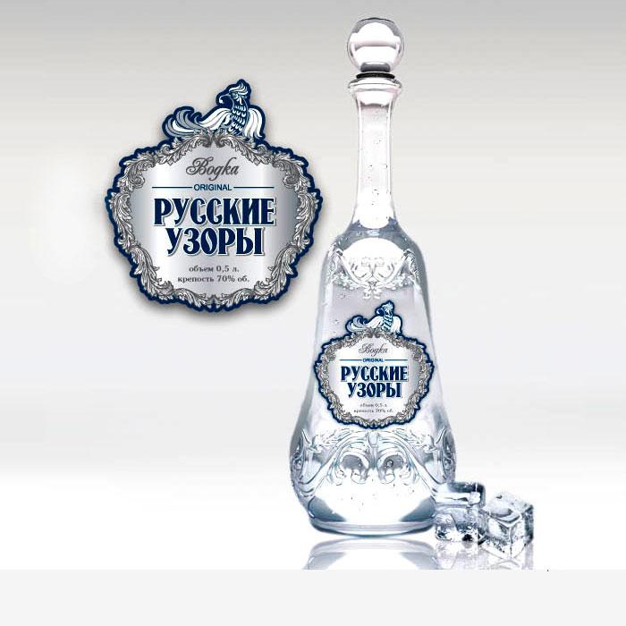 Дизайн этикетки «Русские узоры»